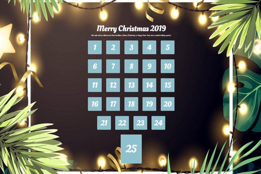 Our Advent calendar for 2019